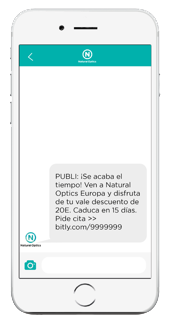 SMS Recordatorio CRM Natural Optics